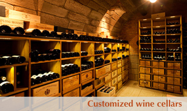 Customized wine cellars